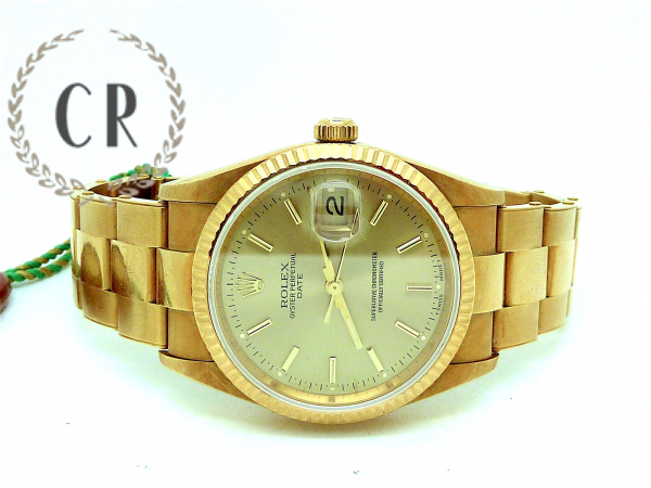 ROLEX DATE GOLD LIKE NEW